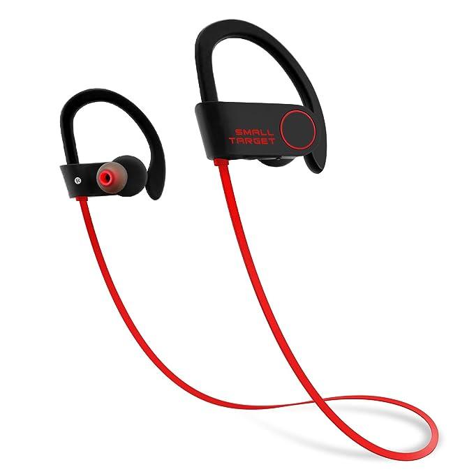 54ba4724bec Bluetooth Headphones,Small Target Best Wireless Sports Earphones with Mic  IPX7 Waterproof Stable Fit in