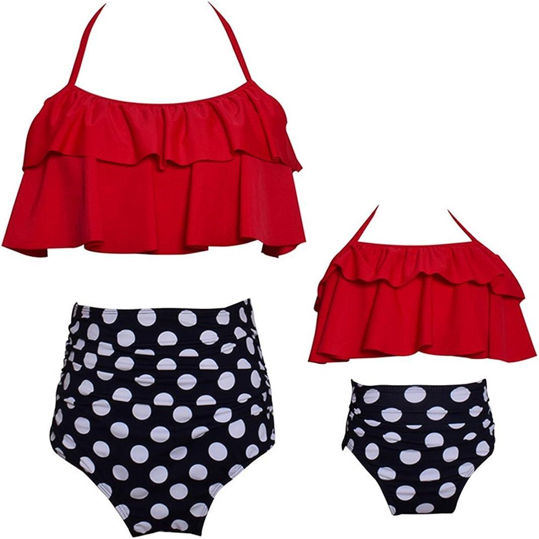 ZAXARRA Toddler Kids Baby Girls Bikini Swimsuit Set Family Matching Mother Girl Swimwear