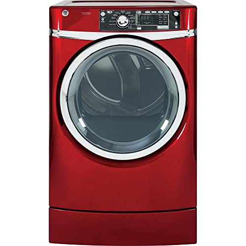 GE GFDR485EFRR 8.3 Cu. Ft. Red With Steam Cycle Electric Dryer
