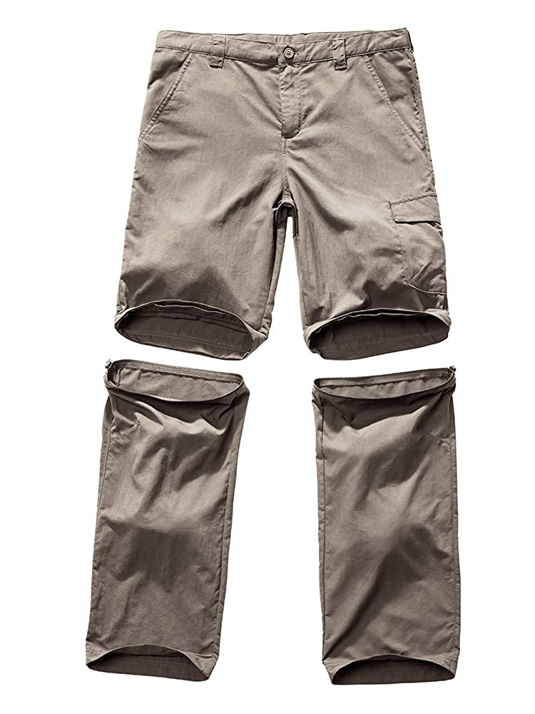 Kids Boys Convertible Athletic Hiking Cargo Pants,Youth Outdoor Quick Dry Waterproof Camping Fishing Trail Zip Off Trousers