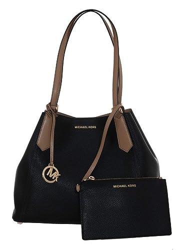 Michael Kors Damen Schultertasche Black Kimberly Leather