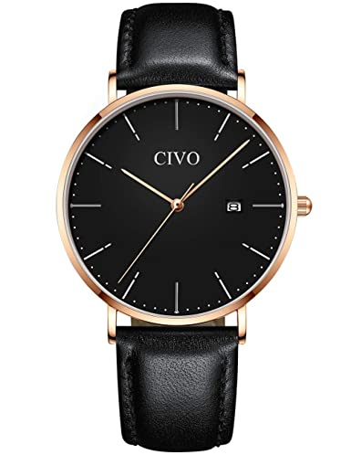CIVO Relojes Hombre Impermeable Lujo Moda Reloj Deportivo Caballero Analogico Casuales Clásico Negocios Calendario Relojes de