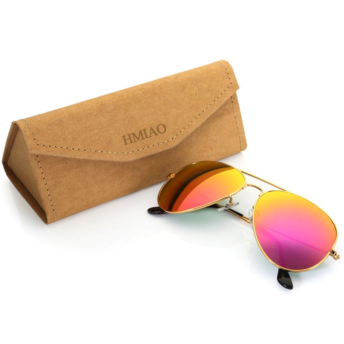 Aviator Sunglasses for Men Women by HMIAO (Barbie Pink)