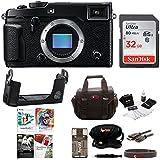 Fujifilm X-Pro2 Mirrorless Digital Camera (Body, Black) with Fujifilm Leather Half Case, Corel Software & Sandisk 32GB Memory Card Bundle