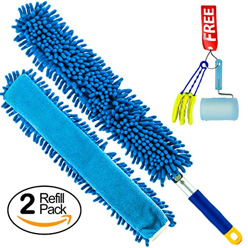Microfiber Cleaning Wand (Temples Pride Microfiber Wand Duster-Saves Time By Covering More Surface Area-No Lint Shedding-Fits Easily In Tight Spaces-Saves Money On Pricey Disposables-Limited Time Plus Size Bonus Pack Offer)
