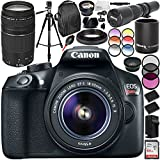 Canon EOS Rebel T6 DSLR Camera with 18-55mm Lens and 75-300mm f/4-5.6 III Lens 19PC Accessory Bundle - International Version (No Warranty)