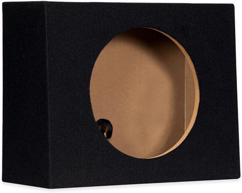 12F Sealed 12 Single Slim Car Box Speaker Enclosure Cabinet for Car Truck SUV