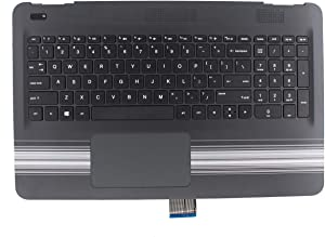 XtremeAmazing Palmrest with Non-Backlit Keyboard and Touchpad 856026-001 for HP Pavilion 15AU 15-AU