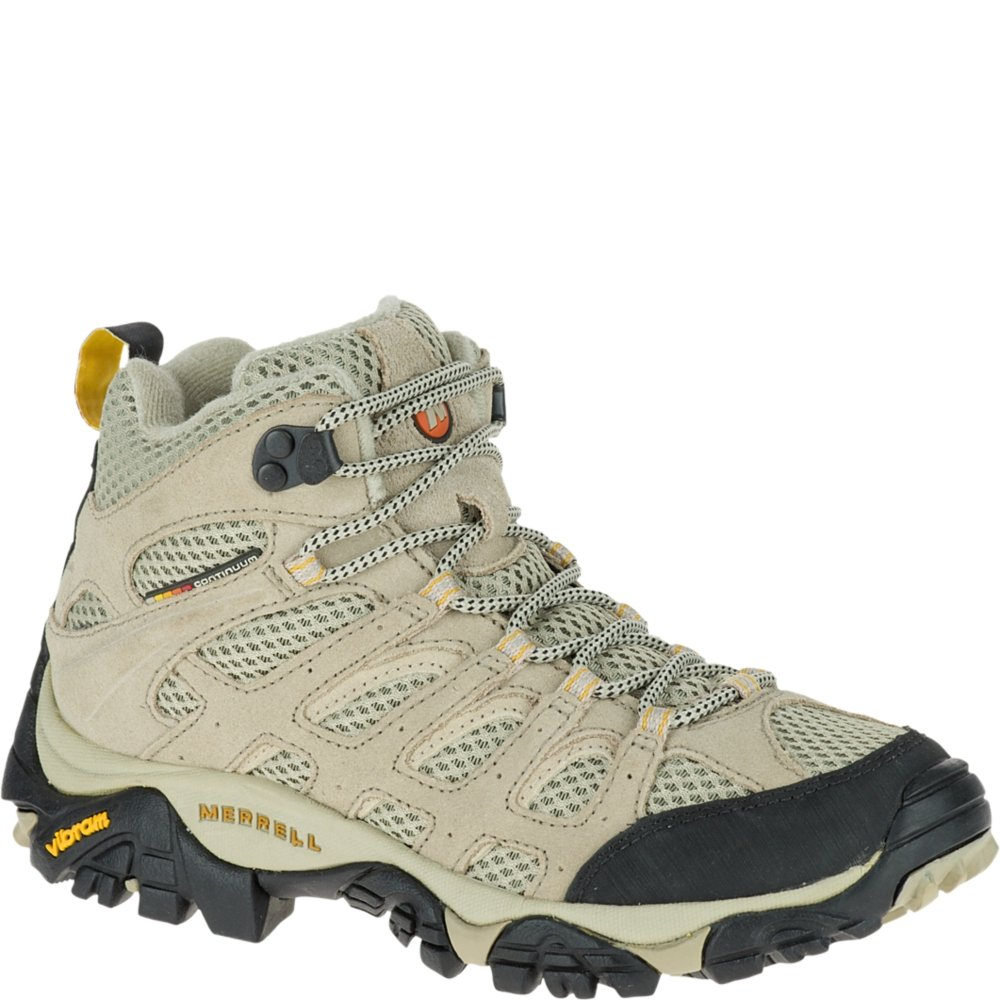 Merrell Women's Moab Ventilator Mid Hiking Boot,Taupe,6 M US