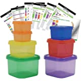 Prefer Green 7 PCS Portion Control Containers Kit (with COMPLETE GUIDE & 21 DAY DAILY TRACKER & 21 DAY MEAL PLANNER…