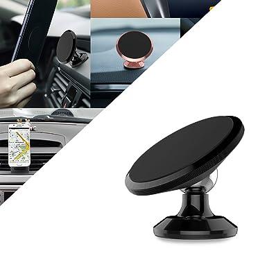 Magnético Teléfono Soporte de coche, universal 360 ° rotación coche salpicadero teléfono móvil soporte,