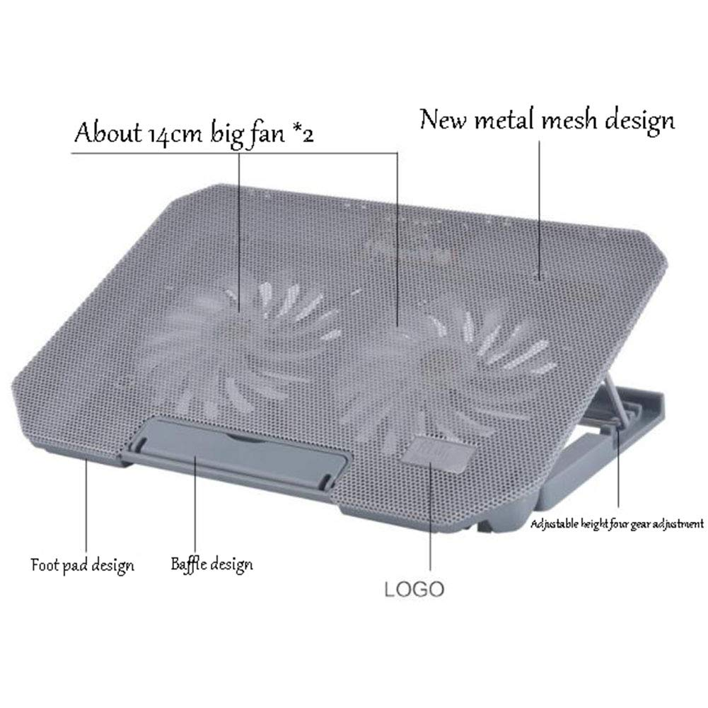 PANGU-ZC Laptop Cooler - Foldable Portable 4th Height Adjustable for 15.6'' (6 Colors Available) (Color : Gray) by PANGU-ZC (Image #4)