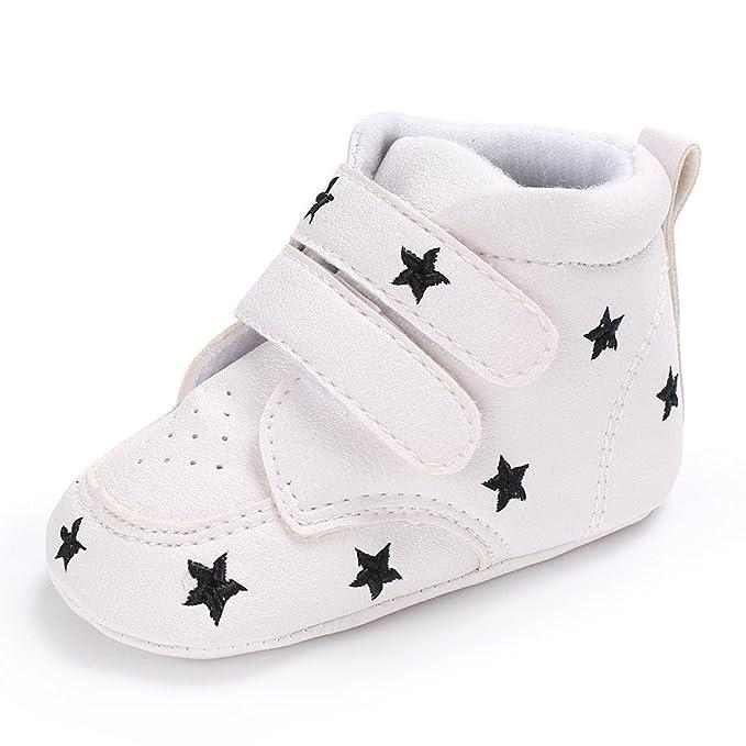 YanHoo Zapatos para niños Zapatos de Suela Blanda con Bordado de bebé niños en Forma de corazón Bordado Zapatos de Corte Alto Zapatillas Antideslizantes ...