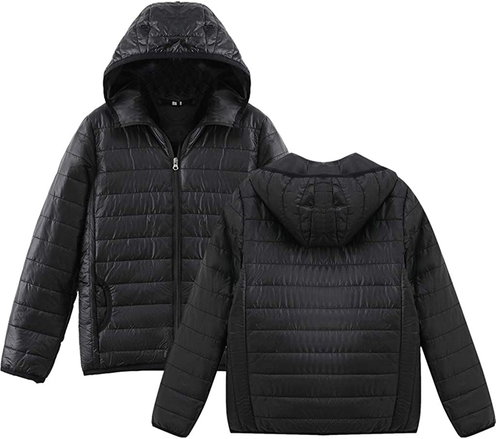 Linkay Damen Jacke Steppjacke Herbst Winter /Übergangsjacke Einfarbig Daunenjack Mantel Steppmantel Hoodie