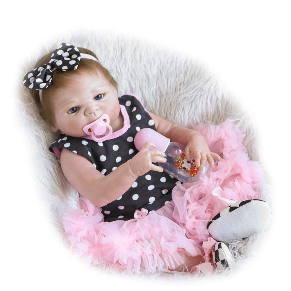 CHENG Baby Reborn Dolls Real Touch weiches Vinyl Silikon Kinder
