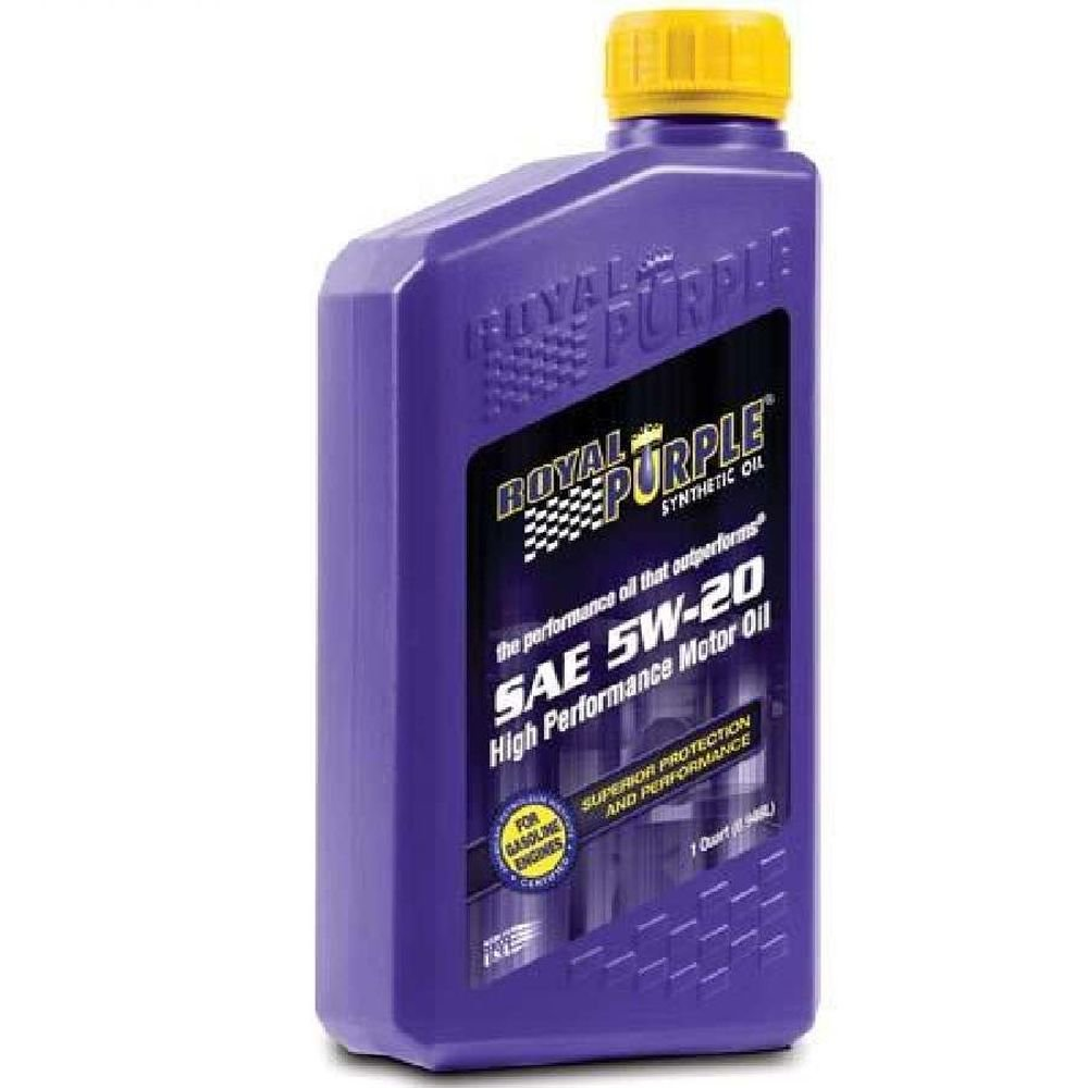 Royal Purple 06520-6PK API-Licensed SAE 5W-20 High Performance Synthetic Motor Oil - 1 qt. (Case of 6) by Royal Purple