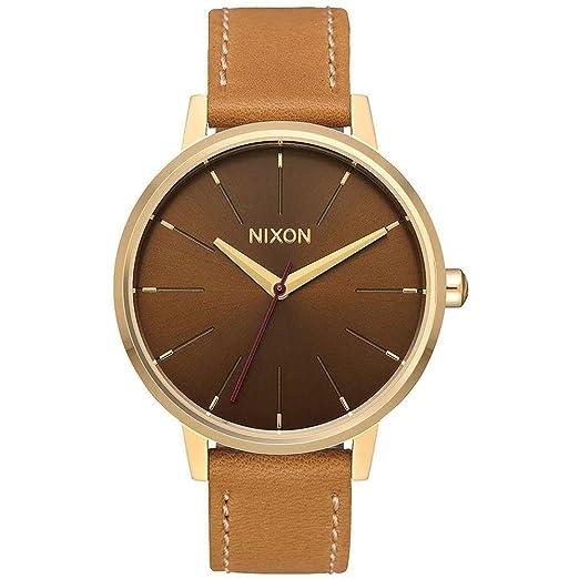 Nixon Reloj Analogico para Mujer de Cuarzo con Correa en Cuero A108-2804-00: Amazon.es: Relojes