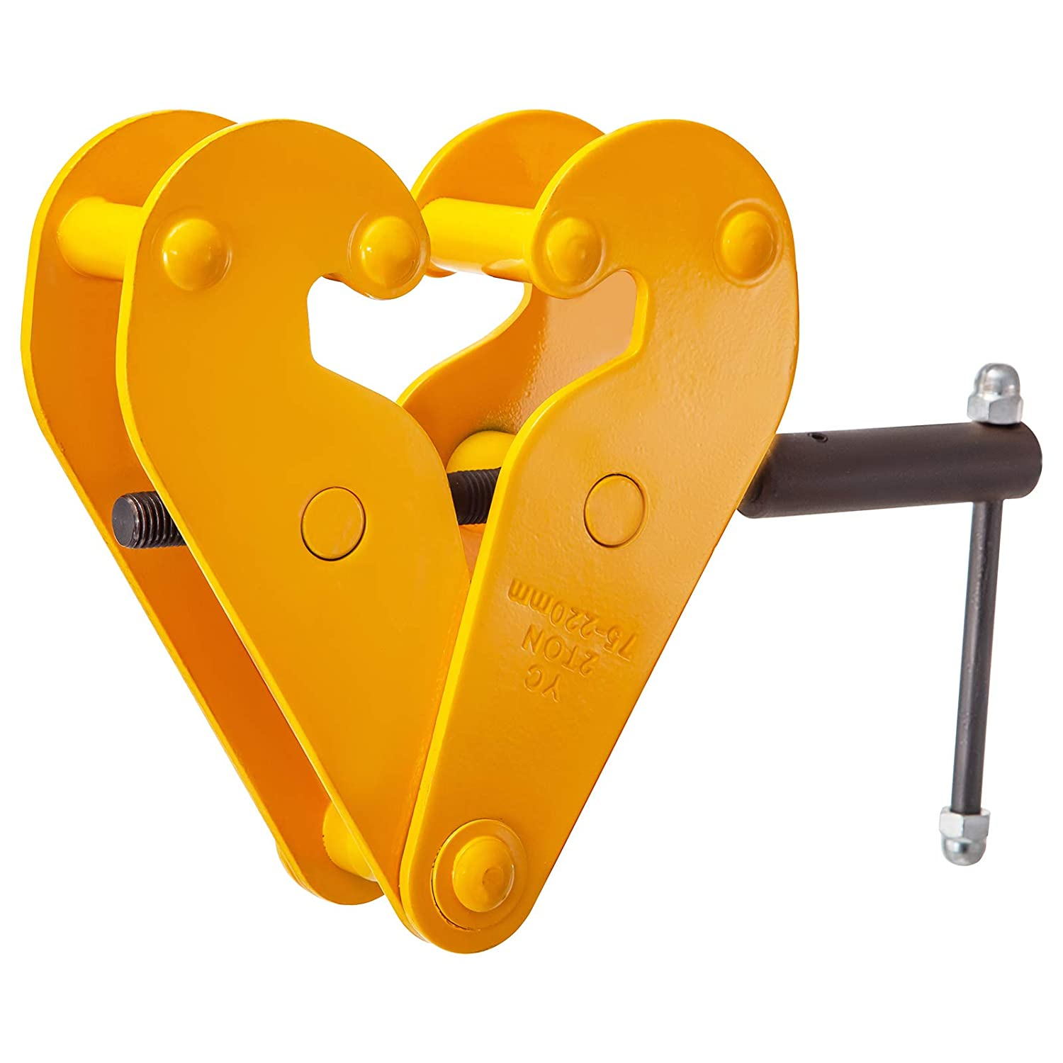 BestEquip 2200lbs//1ton Capacity Beam Clamp I Beam Lifting Clamp 3Inch-9Inch Opening Range Beam Clamps for Rigging Heavy Duty Steel Beam Clamp Tool Beam Hangers for Lifting Rigging Yellow
