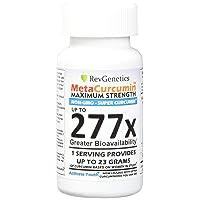 RevGenetics MetaCurcumin Maximum Strength, 277x, 60 Liquid Capsules, Equivalent to 23 g Per Serving Curcumin, Anti-Inflammatory Support
