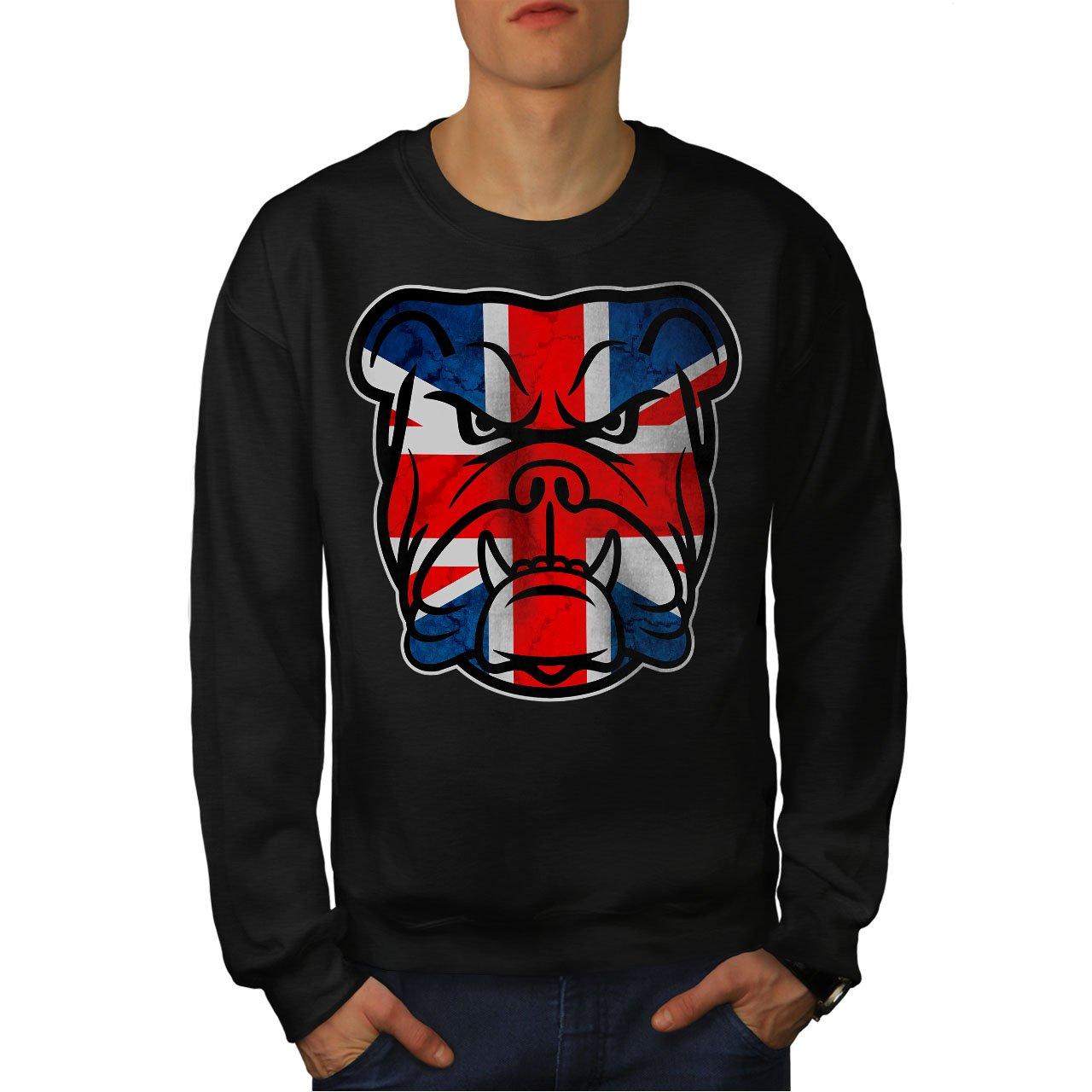 Puppy Casual Jumper wellcoda Brittish Bull Dog Flag Mens Sweatshirt