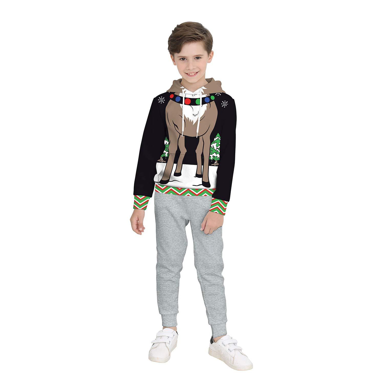 be2f3b727 Amazon.com   ZYX Christmas Children s Clothing Long Sleeve Merry ...