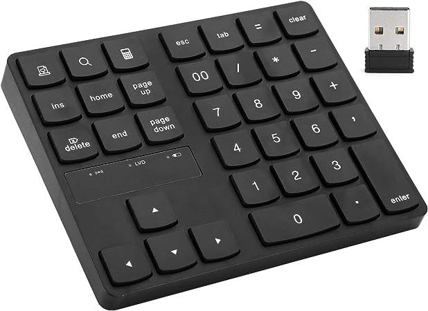 Teclado numérico inalámbrico 2.4G Teclado portátil Plug and ...