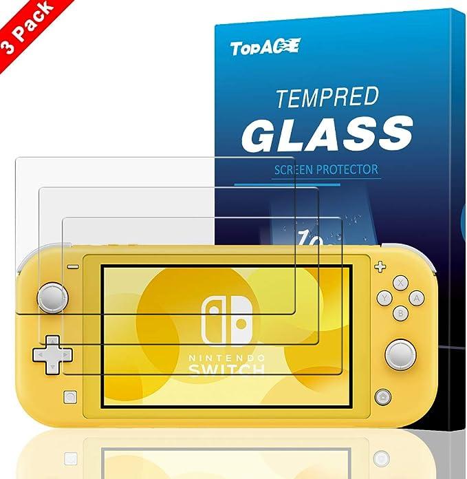 TopACE Protector Pantalla para Nintendo Switch Lite, 9H Dureza Premium Full Coverage Cristal Templado para Nintendo Switch Lite: Amazon.es: Electrónica