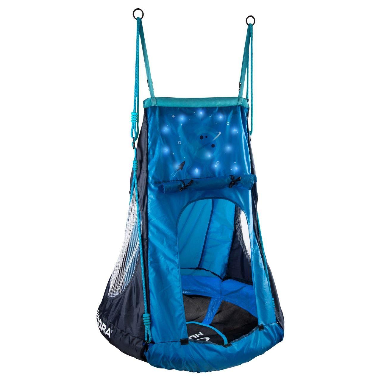 Nestschaukel Zelt mit Licht - Hudora Nestschaukel mit Zelt