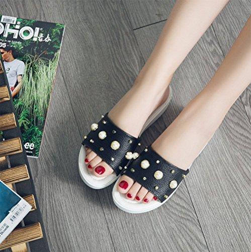 Zapatillas Fondo Verano Plano A Señoras De weiwei Zapatillas Las Forradas Comodidad Remache del Cool xIYqRfw