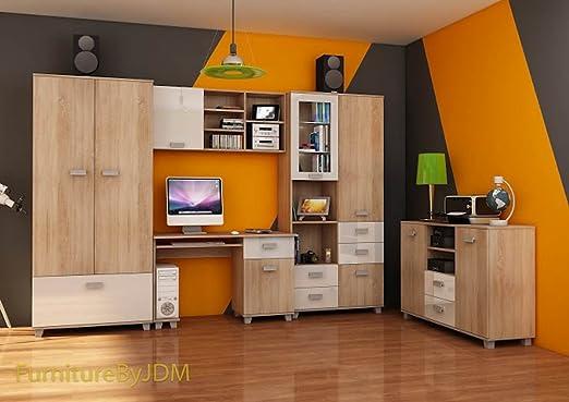 Amazon De Klassisch Kinder Teenager Raum Mobel Set Solo 2t Kleiderschrank Schreibtisch