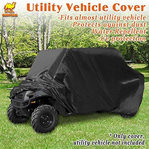 (Strong Camel Polaris Ranger UTV Utility Vehicle Storage Cover Water Repellent UV protection (BLACK))