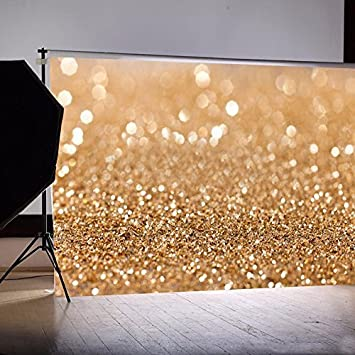 OMG/_Shop 7x5ft Photography Background Gold Glitter Photography Background Photo studio Backdrop