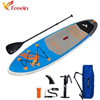 "Freein SUP Inflatable Stand Up Paddle Board ISUP 6"" Thick with Adjustable Paddle,Travel Backpack,Pump"