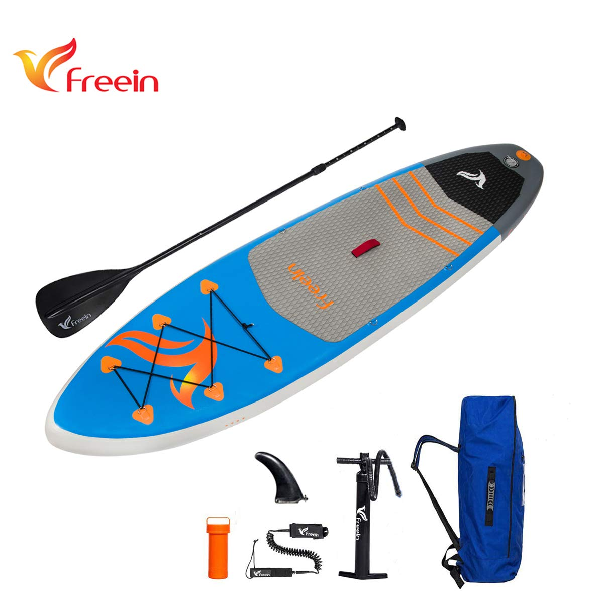 Freein Inflatable Stand Up Paddleboard, All Round 10'2'' Long 31'' Wide 6'' Thick Inflatable SUP Paddle Board by Freein
