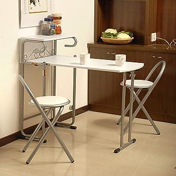 Mesas plegables y sillas Plegable 1 Mesa 2 Sillas Mesa de ...
