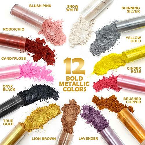 Original Stationery Mica Powder Pearl Pigment - 12 Pack...