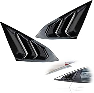 IKON MOTORSPORTS Window Louver Compatible With 2016-2020 Honda Civic Sedan IKON Style,Rear /& Side Quarter Scoop Louvers