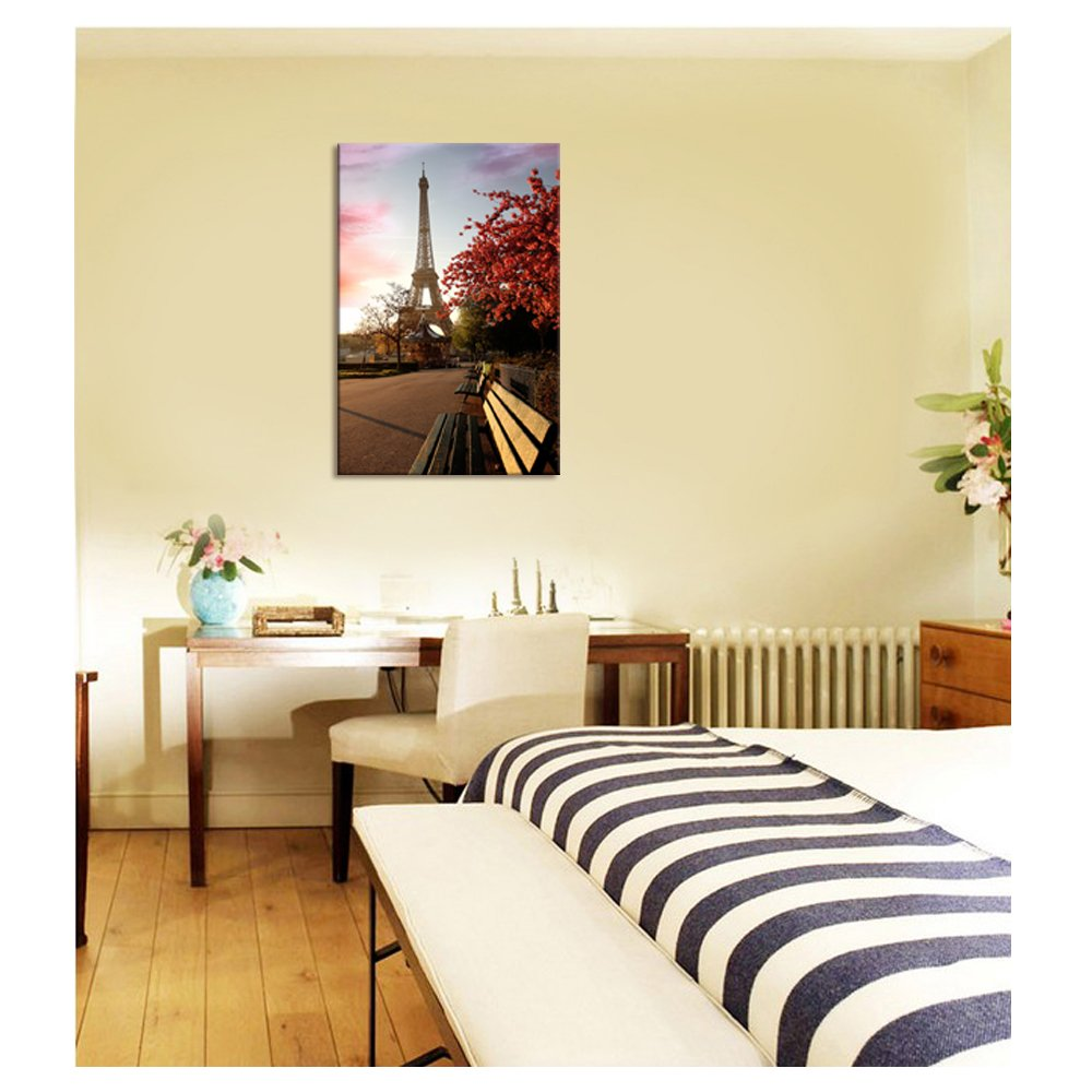 Amazon.com: Modern Canvas Wall Art, Paris Eiffel Tower Wall Decal ...