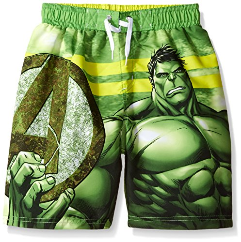 Marvel Little Boys' Hulk Swim Shorts, Multicolor, (Hulk Suit)