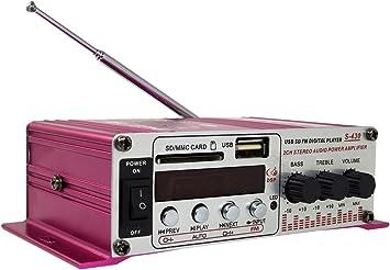 Amplificador de audio estéreo, 12 V, para coche y casa, con ...