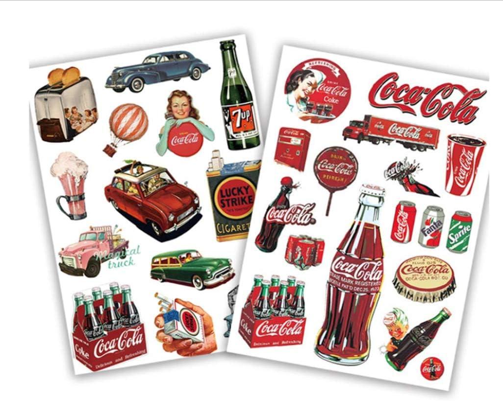 Pegatinas De Coca-Cola Retro Europeas Y Americanas 29 Unids Estuche De Viaje Para Computadora Móvil Monopatín Bicicleta De Coche Y Otras Pegatinas Diy: Amazon.es: Bricolaje y herramientas