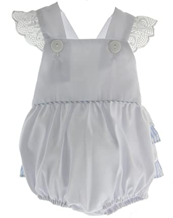 9eb2e85b655 Amazon.com  Toddler Girls White Bubble Outfit Ruffles on Back 4T ...