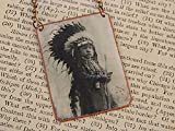 Native American necklace Crow jewelry Native American Jewelry mixed media jewelry