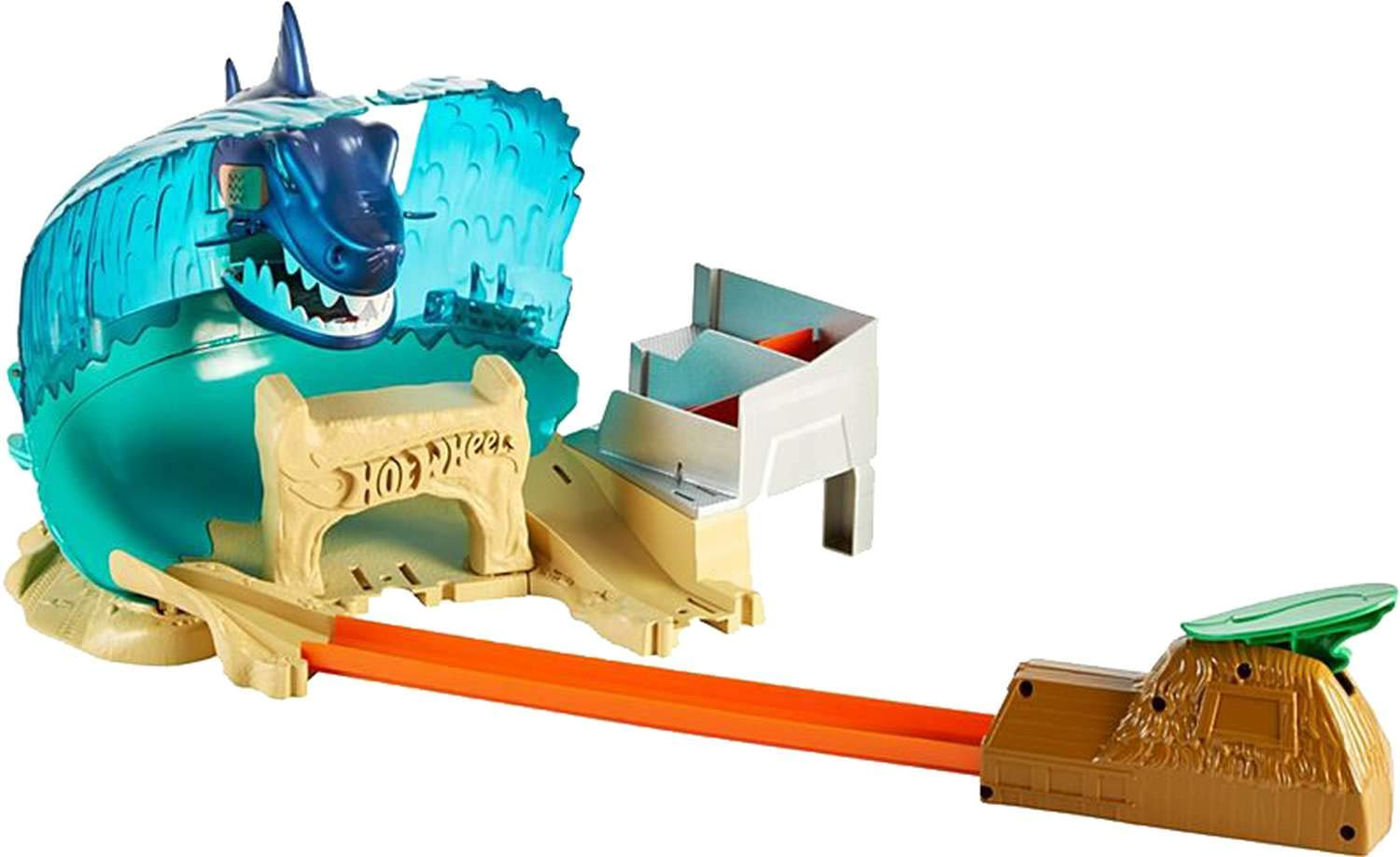 Hot Wheels FNB21 City Shark Beach Battle Play Set, Multicolour