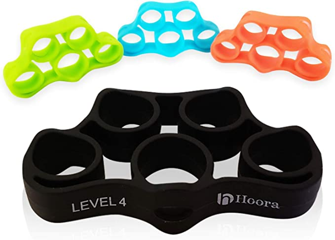 3X Rubber Finger Stretcher Hand Exercise Grip Strength Resistance Bands Training