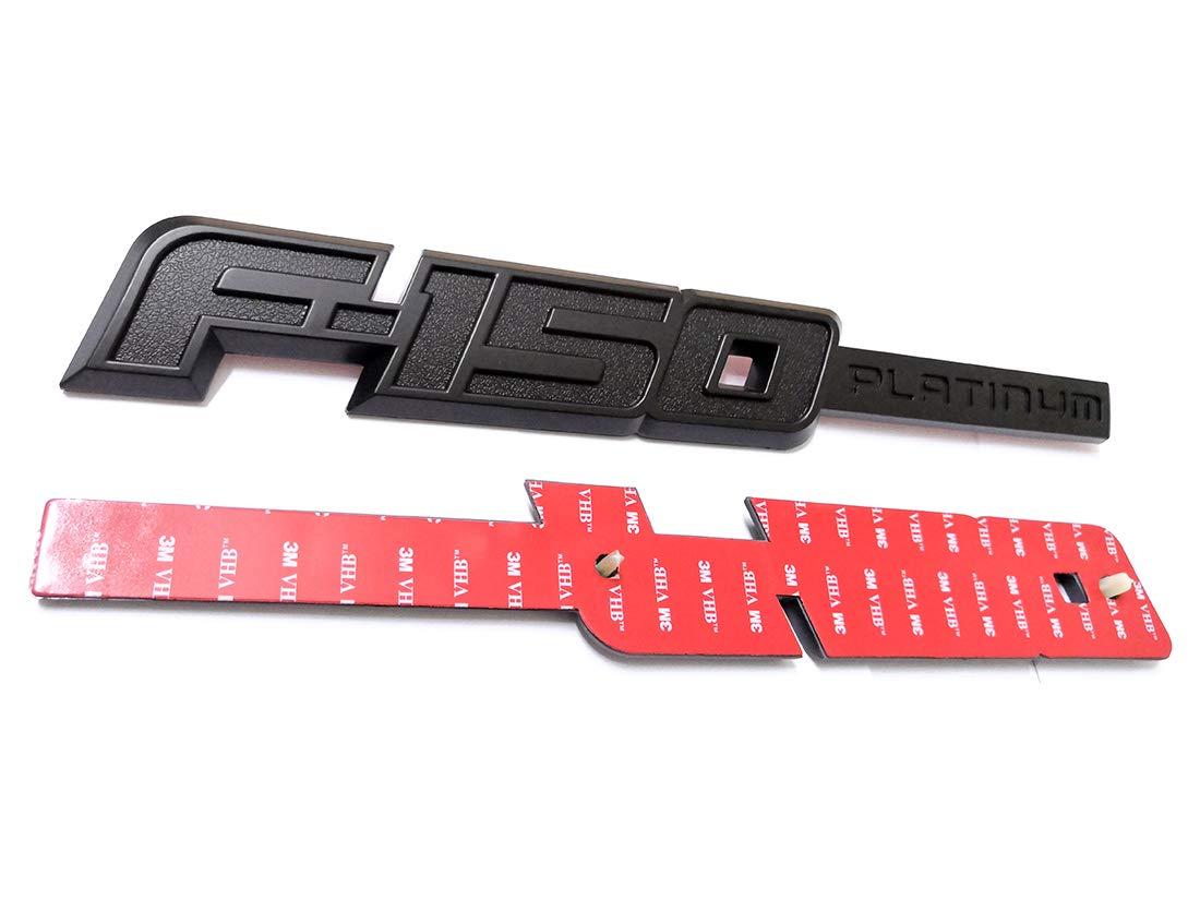 2pcs F-150 PLATINUM Emblems Side Fender F-150 Badges 3D logo Replacement for F150 Matte Black Aruisi