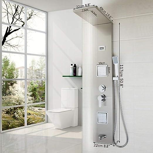 Cuarto de baño de Acero Inoxidable Pared de la Columna de Ducha ...