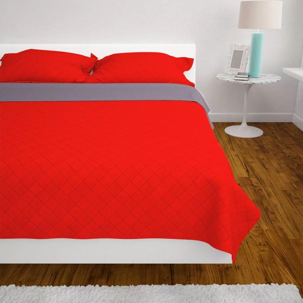 tidyard Zweiseitige Tagesdecke Steppdecke Gesteppte Überwurfdecke Wolldecke Warm Decke Bettdecke Heimtextilien, Bad- & Bettwaren
