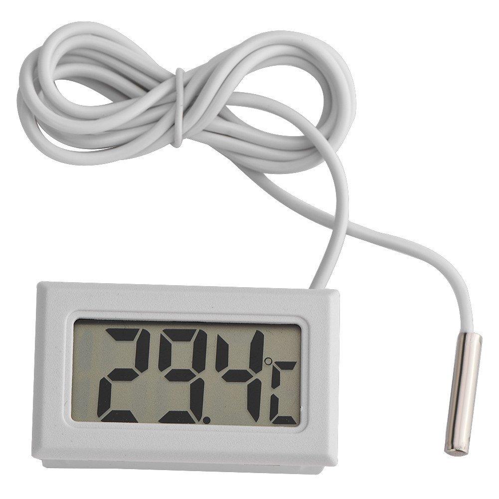 Richer-R Humidity Meter, Mini Hygrometer Temperature Digital LCD Thermometer Sensor for Refrigerator Freezer
