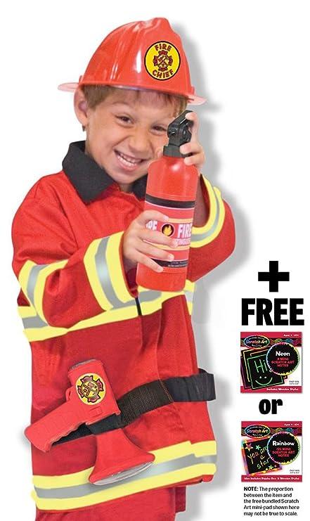 Amazon.com: Disfraz de bombero: Role Play + Melissa & Doug ...